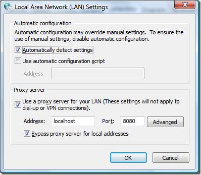 LAN settings