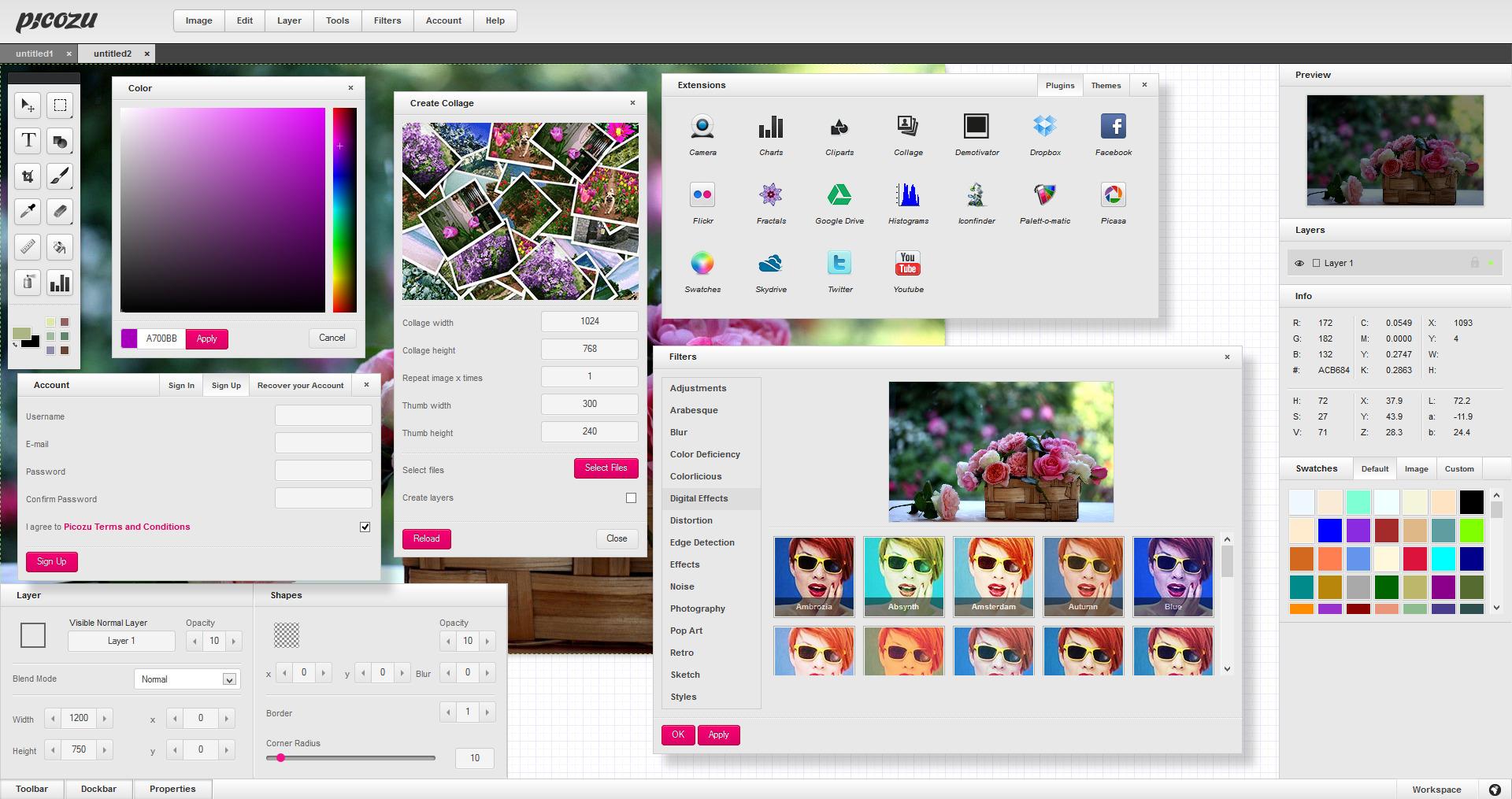 Picozu – Free Online Image Editor – AB's Reflections